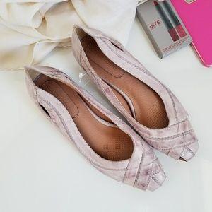 Corso Como Distressed Lavender Leather Flats
